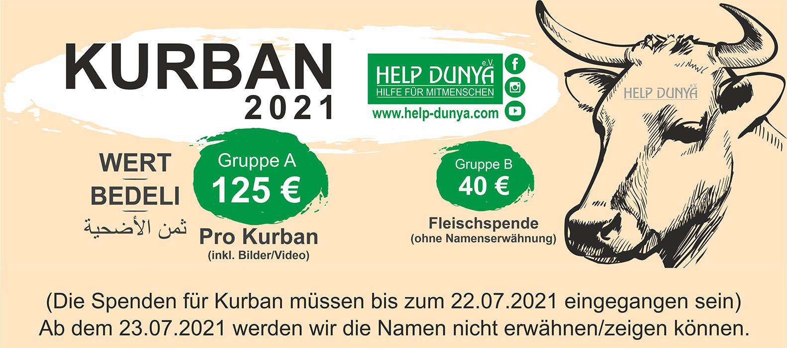 Help Dunya Kurban 2021